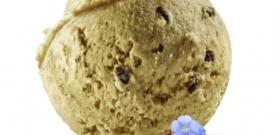 Crème glacée au Lin brun