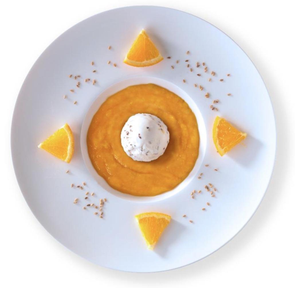 Crème glacée au Sésame blanc