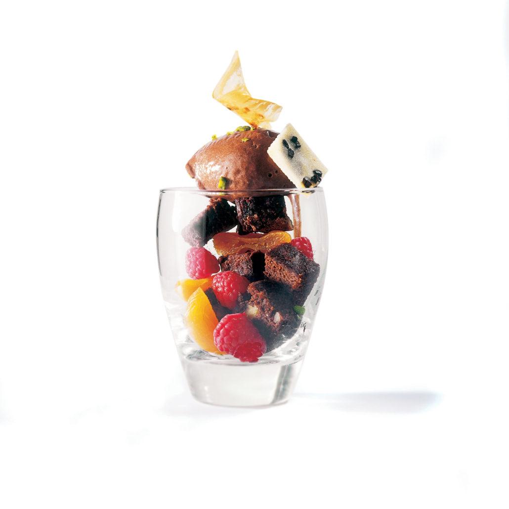 Crème glacée Praliné et éclats de chocolat