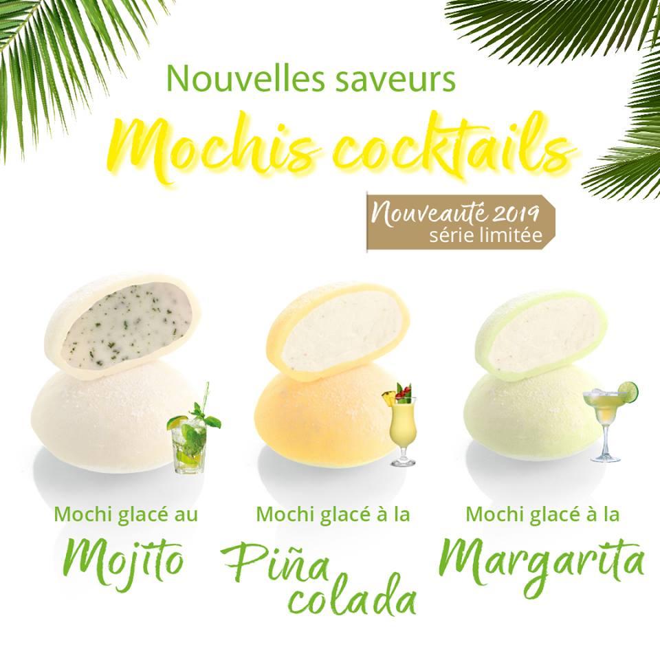 Nouvelles saveurs : mochis cocktails « à siroter » sans modération tout l'été !