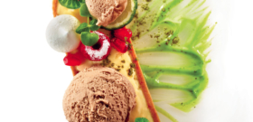 ACAÏ ICE CREAM, MATCHA POWDER AND CREAM, LEMON TART, EXOTIC FRUITS AND MARSHMALLOW