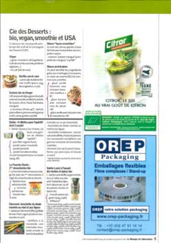Cie des Desserts : bio, vegan, smoothie et USA