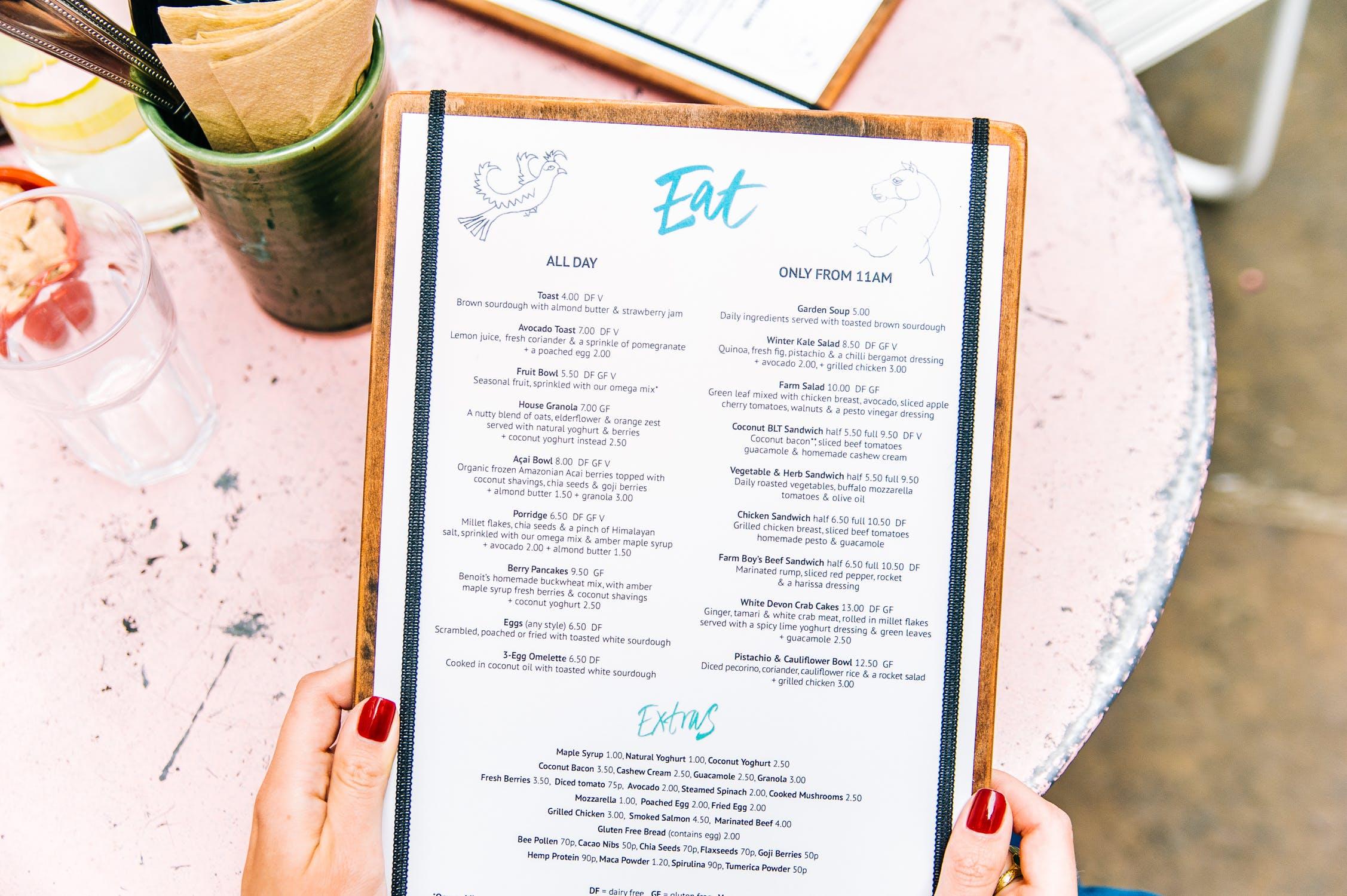 Comment transformer le menu de votre restaurant en outil marketing