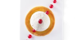 THIN LEMON TARTLET WITH LEMON SORBET
