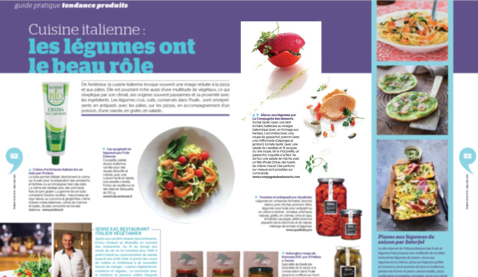 Glaces aux légumes par La Compagnie des desserts