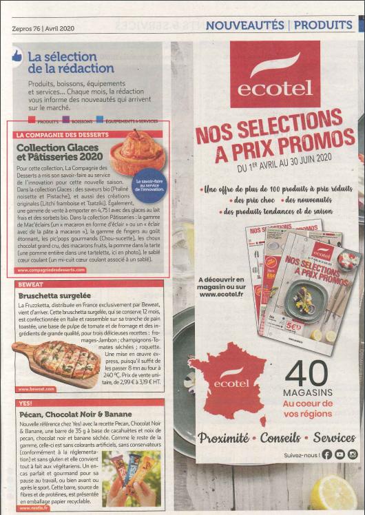 Collection Glaces et Pâtisseries 2020