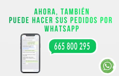 ¡Nuevo servicio de pedidos por Whatsapp!