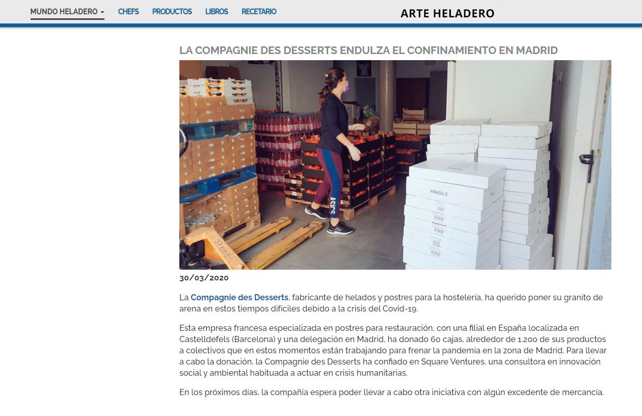 La Compagnie des Desserts endulza el confinamiento en Madrid