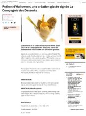 Potiron d'Halloween, une création glacée signée La Compagnie des Desserts
