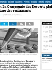 Pourquoi La Compagnie des Desserts plaide la réouverture des restaurants